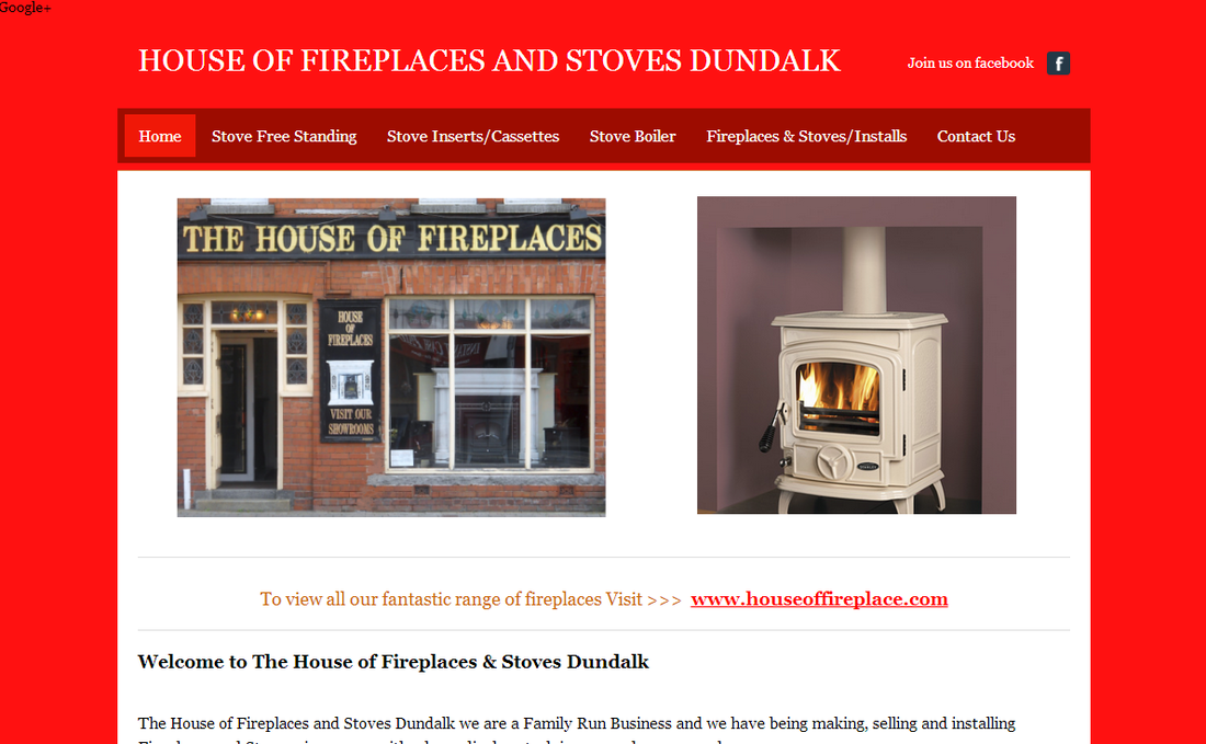 Picture image of website created by dynamic web design and marketing dundalk co louth