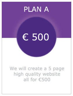 image of plan a 500 euro for 5 page website in dundalk louth