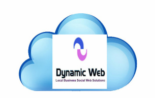 dynamic web design and marketing cloud based technology logo